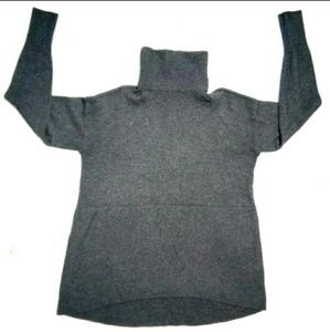 Lou & Grey Sz S  Grey High Low Turtleneck Sweater